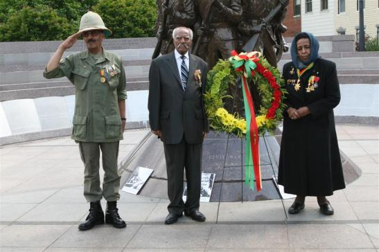 1st Wreath Laying Ceremony by Ethiopian Patriots in May 2011.