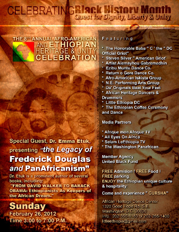 The Legacy of Frederick Douglas and Pan-Africanism presentation of 2012