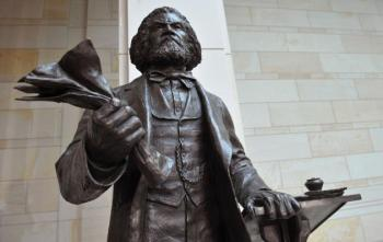 The Newly Installed Statue of Frederick Douglass